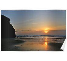 Porthtowan Sunset Poster