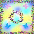 Butterflies Rainbow scarf by sarnia2