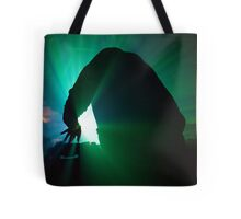On Decks In Green Tote Bag