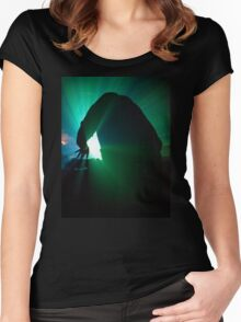 On Decks In Green Women's Fitted Scoop T-Shirt