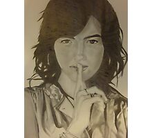 Camilla belle Drawing Photographic Print
