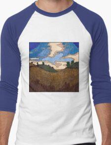 Wheat Field Men's Baseball ¾ T-Shirt