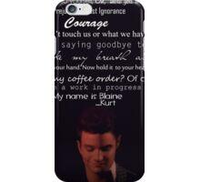 Quotes Klaine  iPhone Case/Skin