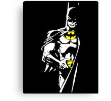 Batman - Minimal Figure Batman Canvas Print