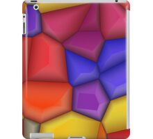 3d colorful shapes iPad Case/Skin