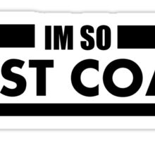 So West Coast Sticker