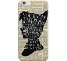 Peter Pan Vintage Dictionary Page Style -- That Place iPhone Case/Skin