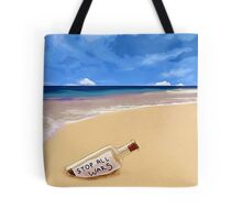 Message in the bottle Tote Bag