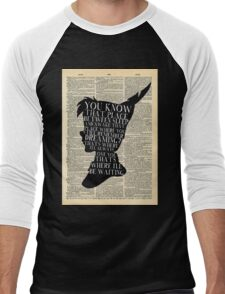 Peter Pan Vintage Dictionary Page Style -- That Place Men's Baseball ¾ T-Shirt