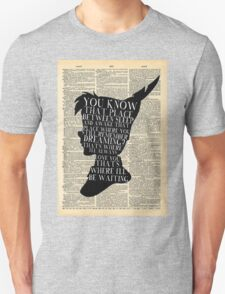 Peter Pan Vintage Dictionary Page Style -- That Place T-Shirt