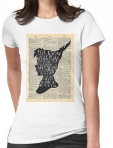 Peter Pan Vintage Dictionary Page Style -- That Place Womens Fitted T-Shirt