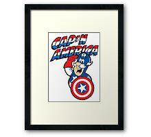 Cap'n America Framed Print