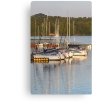 yachts at lake Canvas Print
