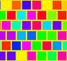 Colorful squares pattern by lalylaura