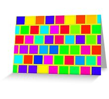 Colorful squares pattern Greeting Card