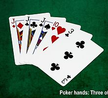 Poker Hands Calendar - Three Of A Kind by luckypixel