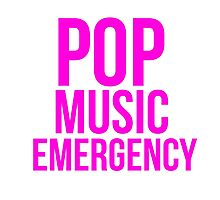 POP MUSIC EMERGENCY Photographic Print