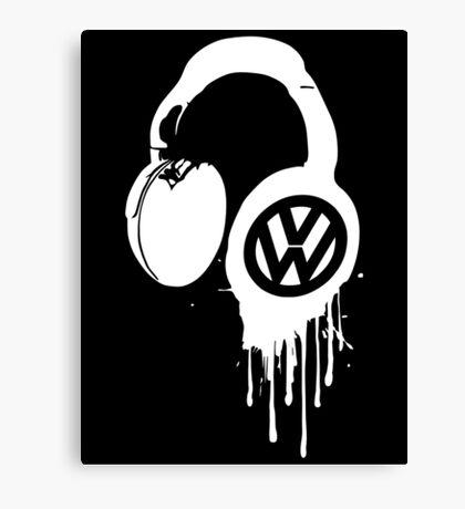 VW Bleeding Headphone Canvas Print