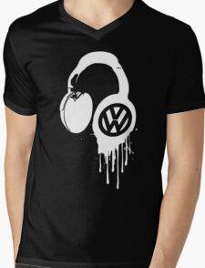 VW Bleeding Headphone Mens V-Neck T-Shirt