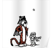 Darth Hobbes and Calvin Trooper Poster