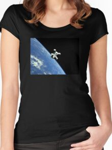 Scribbles In Space Women's Fitted Scoop T-Shirt