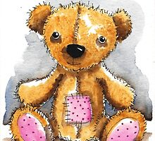 Teddy Bear with patch by StressieCat