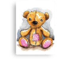 Teddy Bear with patch Canvas Print