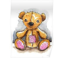 Teddy Bear with patch Poster