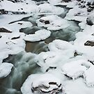 pancake ice , near Whistler , British Columbia by Christopher Barton