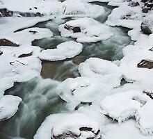 pancake ice , near Whistler , British Columbia by Christopher Barton