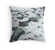 pancake ice , near Whistler , British Columbia Throw Pillow