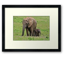 Mother & Son Framed Print