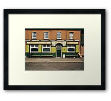 Waiting for the pub to open, UK, 1980s Framed Print