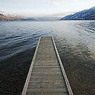 pier, Okanagan Lake, British Columbia by Christopher Barton