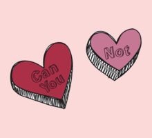 Can You Not Pink Red Hearts Kids Clothes