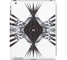 Black 13 Spikes iPad Case/Skin