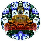 Flowered Buddha by Kaleidoking