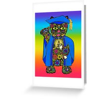 Graduate Lucky Black Cat Greeting Card