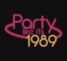 PARTY like it's 1989 retro funky 80's fluro light design by jazzydevil