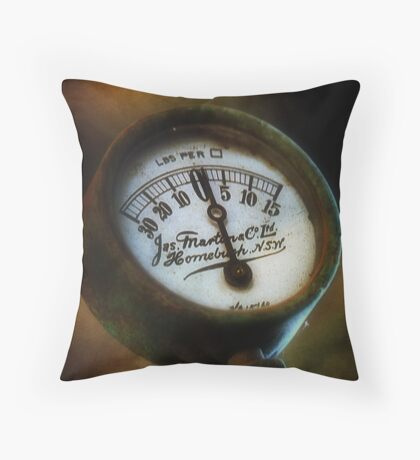 Gauge of the times Throw Pillow