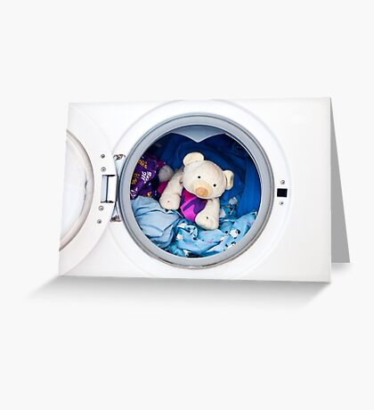 In For A Wash! Greeting Card