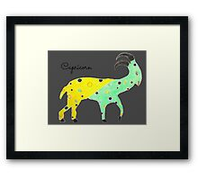Capricorn Sign of the Zodiac Framed Print