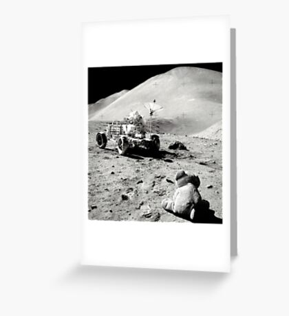 Scribbles On The Moon Greeting Card