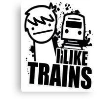 i like a trains bitch Canvas Print