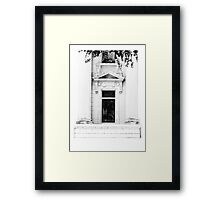 ARCHITECTURAL WINDOW DETAIL Framed Print