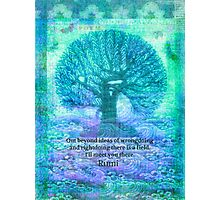 Rumi Friendship Peace Quote Photographic Print