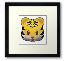 Tiger Emoji Framed Print