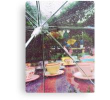 Rainy Mad Tea Party Metal Print