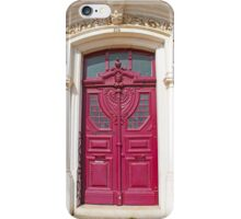 pink door iPhone Case/Skin