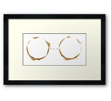 Coffee Ring-My Morning Goggles Framed Print